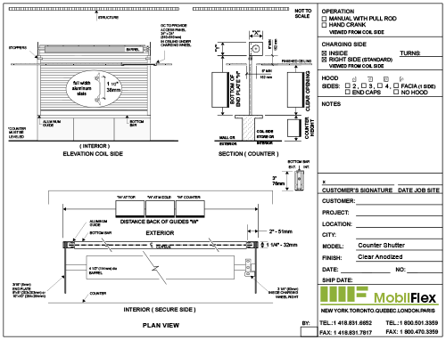 MobilFlex inc. - Shop drawing<br />(Counter shutter)