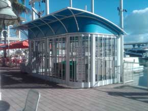 Royal folding grille Kiosks