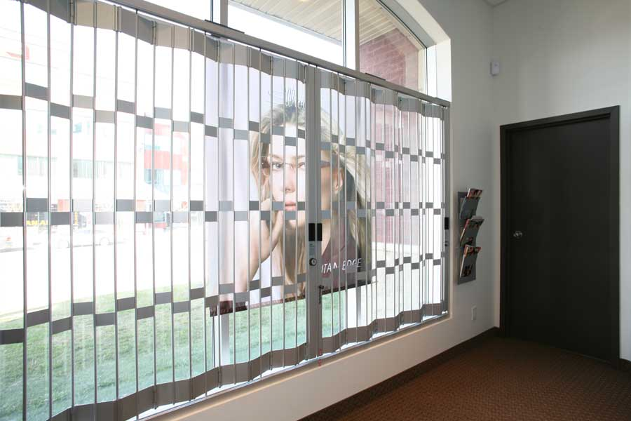 Mobilflex inc window protection sliding grilles for Window protector designs
